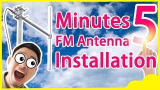 How to Install High Gain Outdoor FU-DV1 Dipole FM Antenna for 300w/350w/600w/1kw FM transmitter?