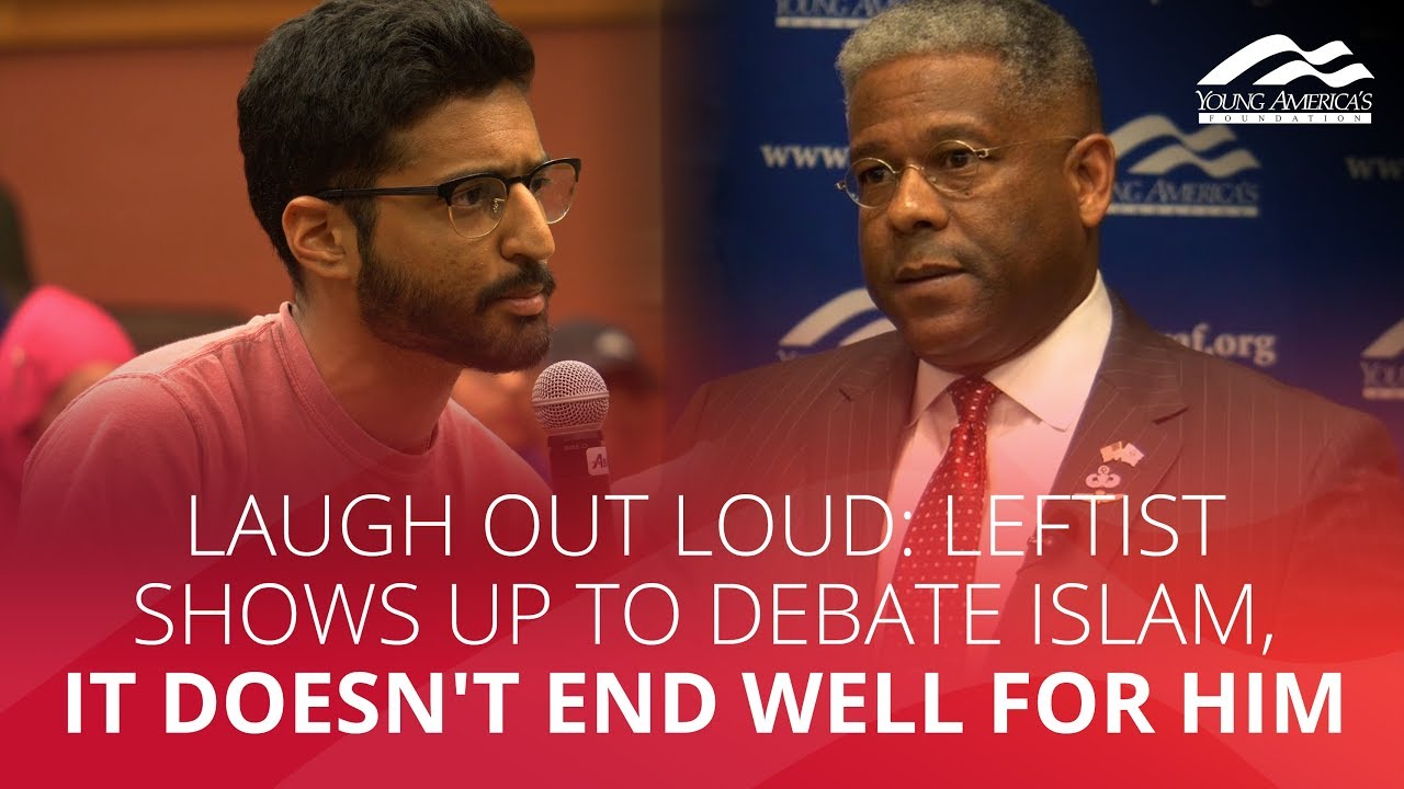 LAUGH OUT LOUD: Leftist shows up to debate Islam, it doesn't end well for him