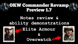 OKW Commander revamp preview notes review & demonstrations