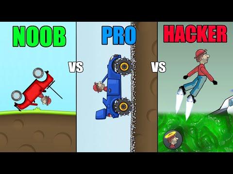 Hill Climb Racing 1 - NOOB vs PRO vs HACKER (WHO ARE YOU?)