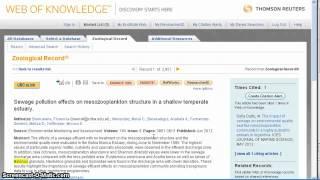 Keyword and Subject Searching in Zoological Record