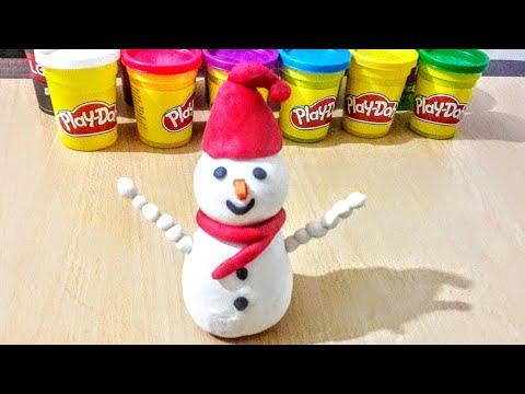 play-doh-oyun-hamuru-ile-kardan-adam-yapımi- -play-dough-snowman-making
