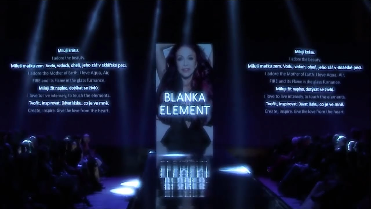 aacd7e070 Blanka Matragi Fashion Show ELEMENTS - YouTube