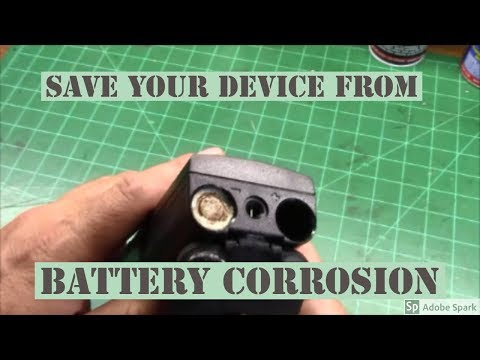 Saving a device from alkaline battery corrosion