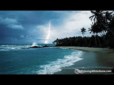 Rain, Thunder & Ocean Sounds | White Noise for Sleep or Studying | 10 Hours