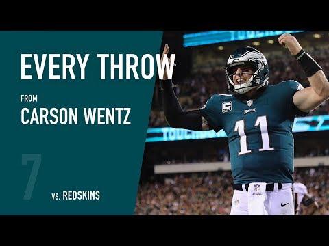 Carson Wentz vs. Washington Redskins (Week 7, 2017)