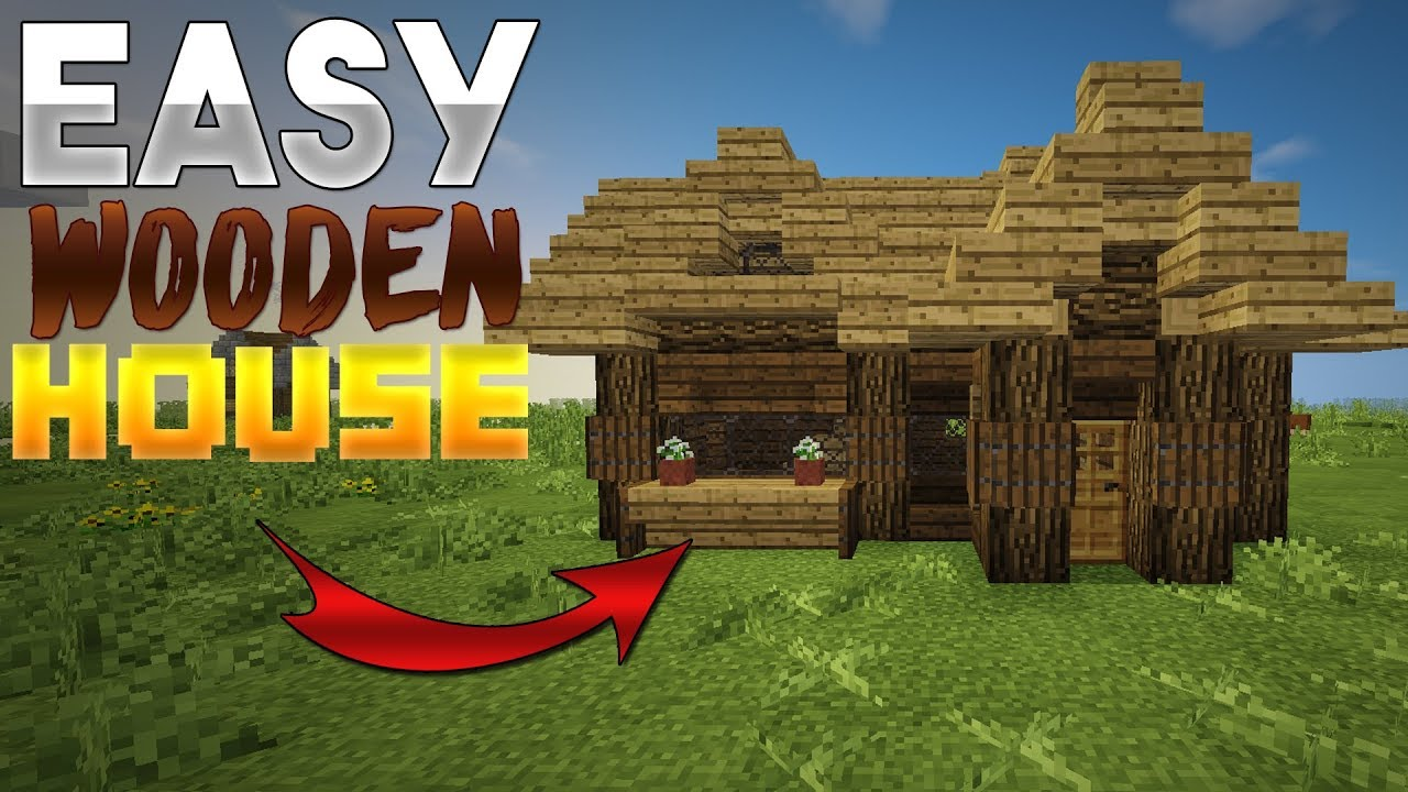 How To Build A Medium Wooden Cottage In Minecraft! (Simple Wood House)