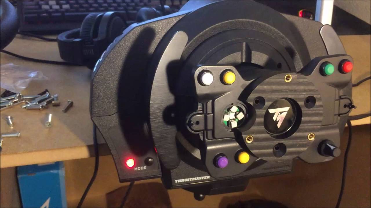 How to Install an Aftermarket Wheel on Thrustmaster TX Base  YouTube