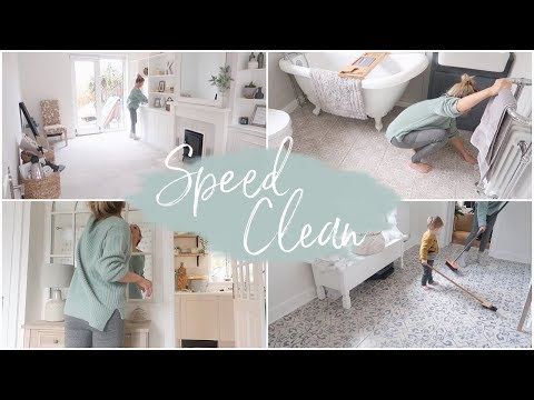 SPEED CLEANING THE NEW HOUSE |  POWER HOUR | KATE MURNANE AD