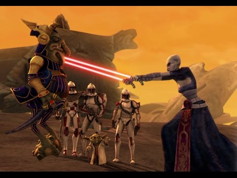 Star Wars The Clone Wars: Yoda toying with Asajj Ventress