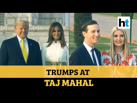 Watch: Donald & Melania Trump Visit Taj Mahal, Pose For Cameras Holding Hands