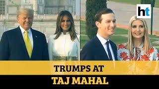 Watch: Donald & Melania Trump visit Taj Mahal, pose for cameras holding hands