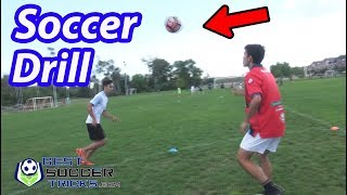 Passing Drill with Ball in the Air - Soccer Tips