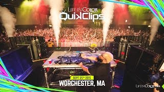 Life In Color - BIG BANG - Worcester, MA - 09.25.15 - Official QUIKCLIP