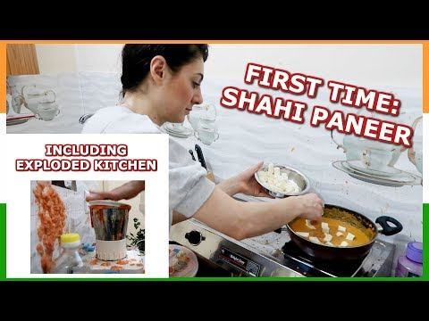 FIRST TIME INDIAN FOOD EP. 2: COOKING SHAHI PANEER RECIPE |