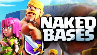 Clash of Clans ♦ NO SHIELD! ♦ 'Naked' Bases in CoC ♦