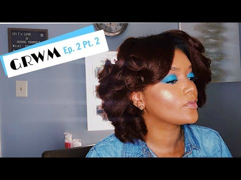 GRWM Ep. 2 Pt. 2   Curling Stretched Natural Hair   Beauty by Cherelle J