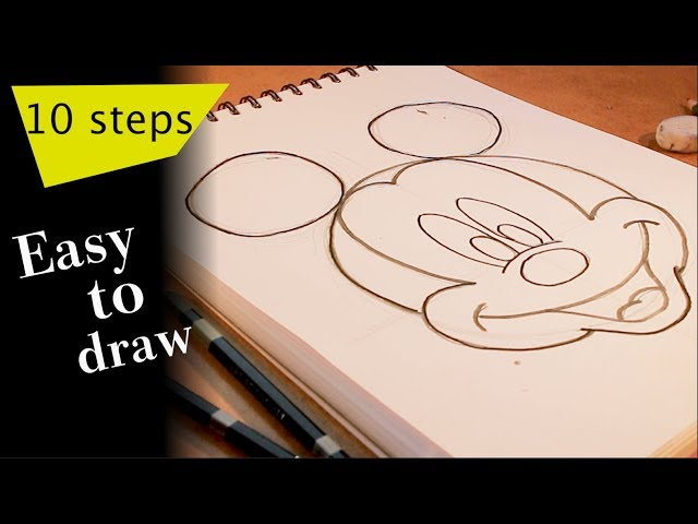 ?Art movie?Everyone can draw mickey like a pro! Start drawing with 10  steps NOT DIFFICULT