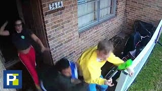 A golpes con un cinturón, una mujer consiguió sacar a unos ladrones de su casa en Texas