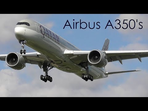 4 Airbus A350's at London Heathrow Airport | 01-05-18