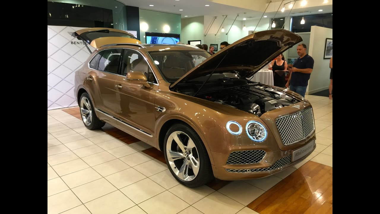 first look at new bentley bentayga at newport beach. Black Bedroom Furniture Sets. Home Design Ideas