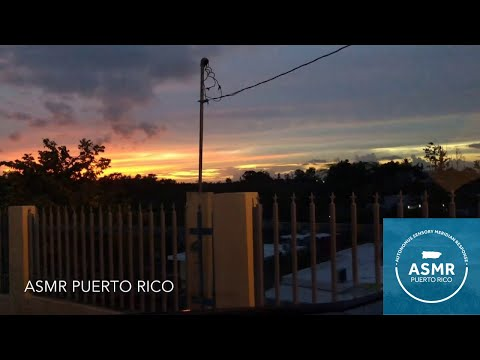 ASMR Puerto Rico: Sunset View with Relaxing Nature Sounds   ASMR Nature Sounds