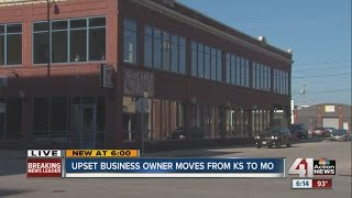 Business owner upset with Kansas moves to Missouri