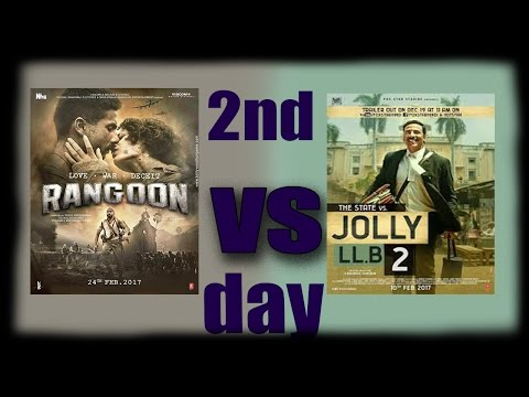 Rangoon vs Jolly LLB 2 second 2nd day box office collection weekend   Akshay against 3 star Rangoon