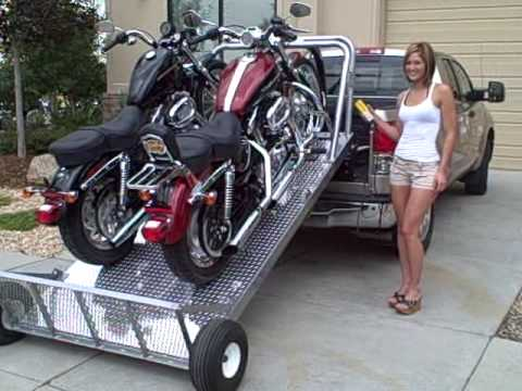 Loading up two harley 39 s the easy way elevation trailers - Rampe chargement moto ...