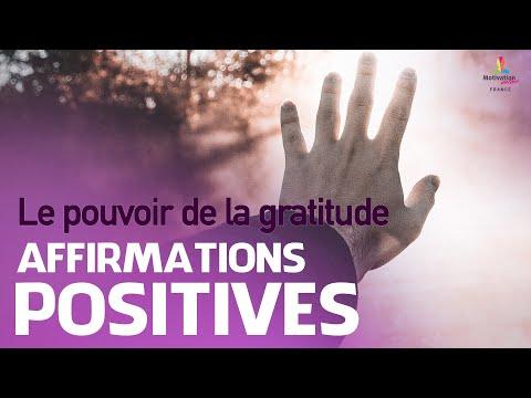 Affirmations positives LE POUVOIR DE LA GRATITUDE   Motivation Online