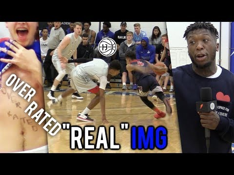 """""""OVERRATED"""" Julian Newman BREAKS ANKLES VS """"REAL"""" IMG! CROWD MOCKING HIS HEIGHT! 31 Pts"""