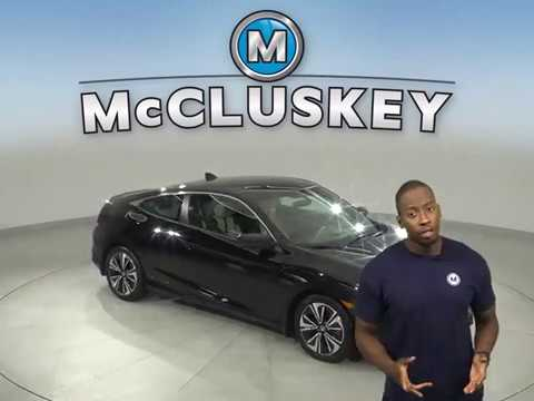 G15074NA Used 2016 Honda Civic EX-T FWD 2D Coupe Black Test Drive, Review, For Sale -