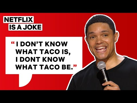 Trevor Noah Orders His First Taco | Netflix Is A Joke