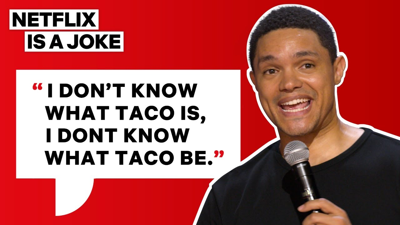 Download Trevor Noah Orders His First Taco | Netflix Is A Joke