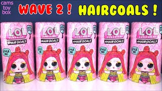 WAVE 2 LOL Surprise HAIRGOALS DOLLS Unboxing Series 5 Makeover DOLL TOYS