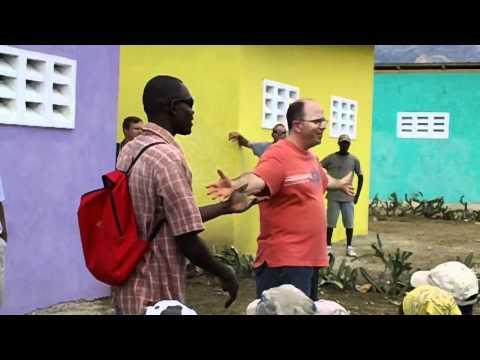Scott speaking in Haitian Village