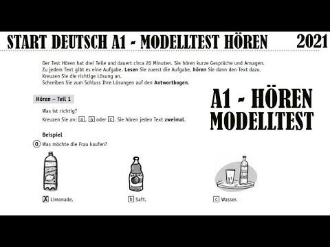 Deutsch test start horen 1 แบบทดสอบภาษาเยอรมัน A1