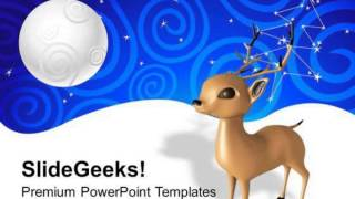 Santa Reindeer Christmas Powerpoint Templates Ppt Backgrounds For Slides 1212 Presentation Infograph