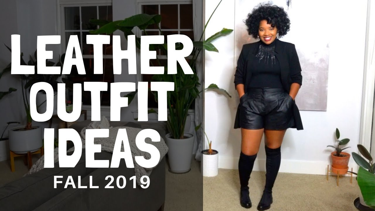 [VIDEO] - Leather Outfit Ideas   Autumn 2019 1