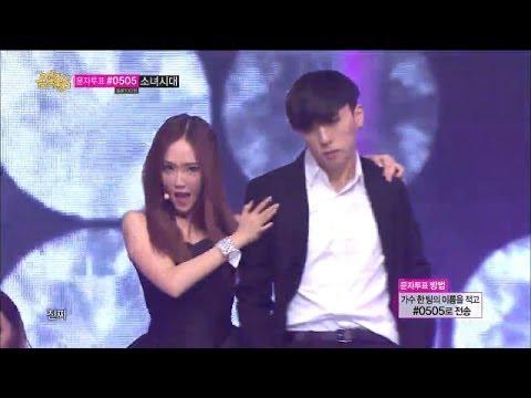 All Black - Girls' Generation - Mr.Mr, 소녀시대 - 미스터미스터, 1위, Show Music core 20140315