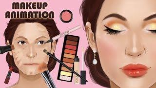 Satisfying makeup animation
