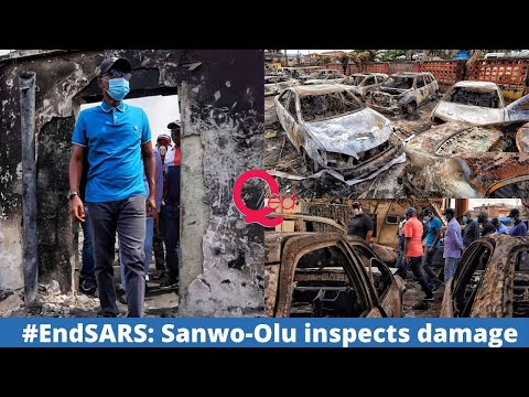 #EndSARS: Sanwo-Olu inspects property destroyed by hoodlums