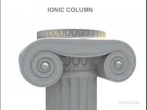 Greek Column Ionic 3D model from CGTrader.com