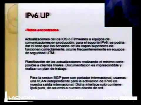 Panel Experiencias de implementación de IPv6