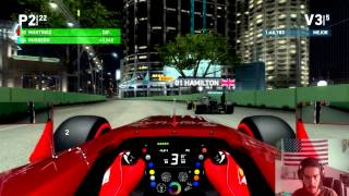 F1 2014. Modo desafio. Ferrari. Singapur. Difícil. Gameplay PC. Settings ultra