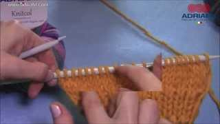 Adriafil tutorial: come lavorare a maglia rasata