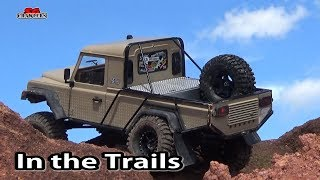 Along the ridgeline Scale Trucks Offroad Adventures RC Toyota Hilux Land Rover