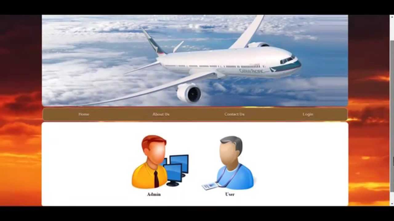Airline Reservation System Youtube