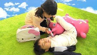 Hello Kitty キティちゃん こうくんねみちゃん お医者さんごっこ セット おもちゃ かぜコンコン おゆうぎ こうくねみちゃん