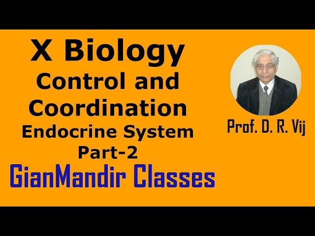 X Biology | Control and Coordination | Endocrine System Part-2 by Manjit Ma'am